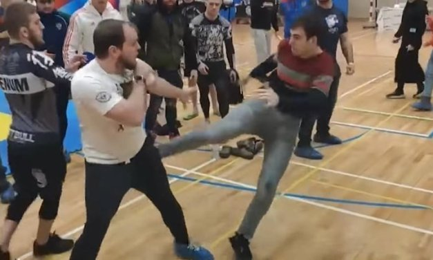 Jiu-Jitsu Tournament Ends in Mass Brawl As Fighters and Guests Attack Each Other