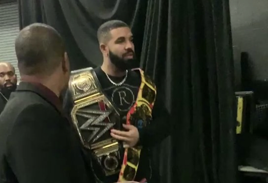 Drake Trolled the Bucks by Bringing His Championship Belts to the Game