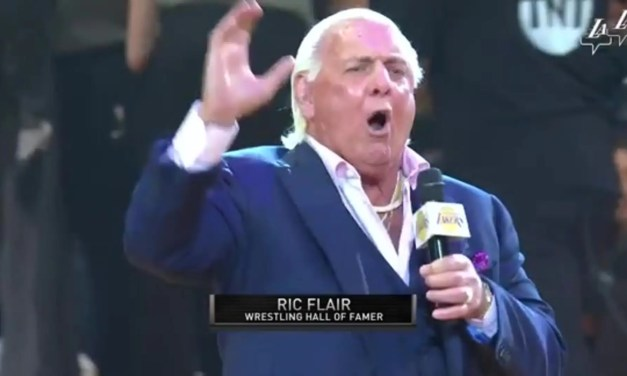 Ric Flair Gave the Lakers An Intro to Remember
