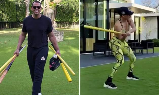 Alex Rodriguez and Jennifer Lopez Turned Their Backyard Into Spring Training
