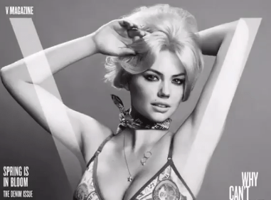 V Magazine Celebrates the First Day of Spring With a Kate Upton Lingerie Throwback
