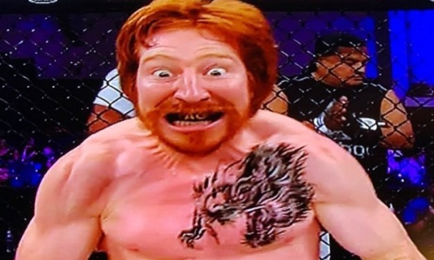 UFC Fighter Spike 'Alpha Ginger' Carlyle Wears 'Plague Doctor' Mask for Weigh-In
