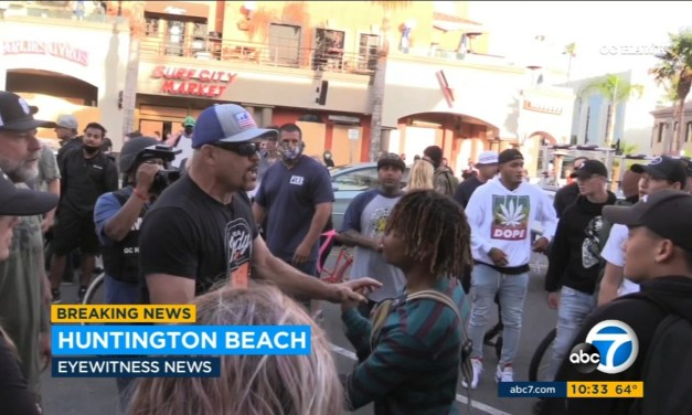 Chuck Liddell Gets Physical With Protesters in Huntington Beach