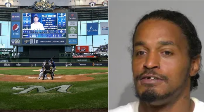 Man Being Accused of Carving his Name on the Brewers Field with a Tractor