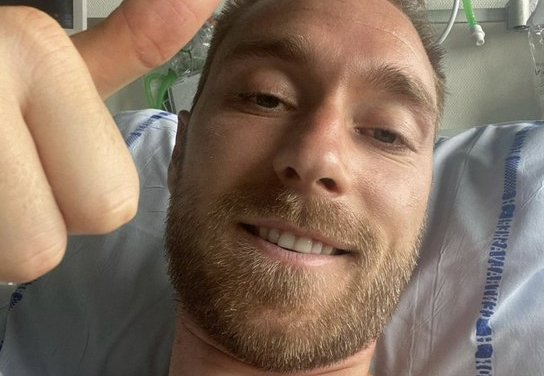 Eriksen speaks to fans from hospital for first time