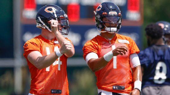 Fields buys into Bears' plan to start Dalton at QB