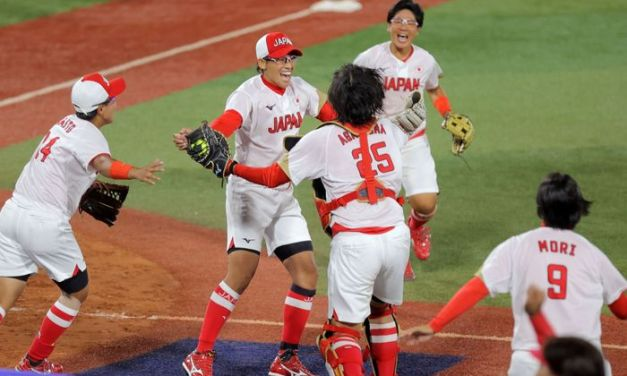 Japan shuts out U.S. in softball gold medal game
