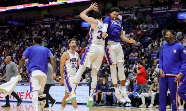 Sixers regroup with team dinner, rout Pelicans