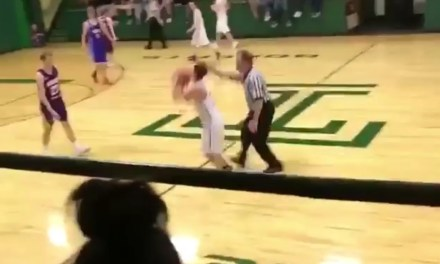 High School Referee Tried To Block A Kid's Halfcourt Shot