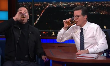 Tom Brady Put His Beer Chugging Skills On Display For Stephen Colbert