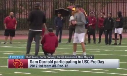 Sam Darnold Threw Passes in the Rain