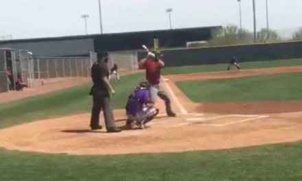 Paul Goldschmidt Takes a Pitch to the Head During a Game on a Backfield