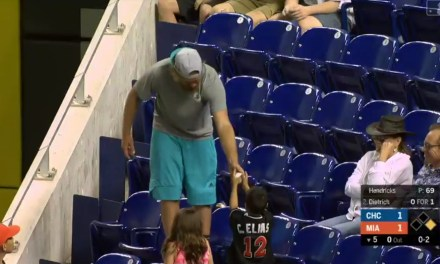 Fan in Miami Snagged a Foul Ball then Handed it to a Kid
