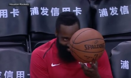 James Harden Busts Out Another Pre-Game Dance