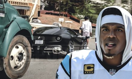 Cam Newton's Car Hit by a Dump Truck