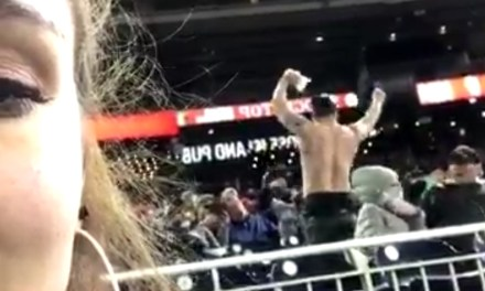 Drunken Mets Fan Taunts Nationals Fans and Pours a Beer on Himself