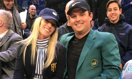 Patrick Reed attended the Cavs-Knicks Game in his Green Jacket