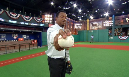 Pedro Martinez Gets a Screamer of Ball Tape at His Face