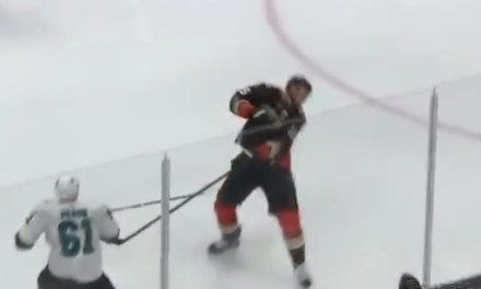 Anaheim's Ryan Getzlaf Took a Puck to the Face and Returned to the Game