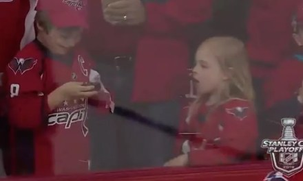 Little Girl Gets a Puck and It Was Totally Worth the Wait
