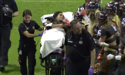 Lingerie Football League Player Stretchered off the Field After Suffering Gruesome Injury