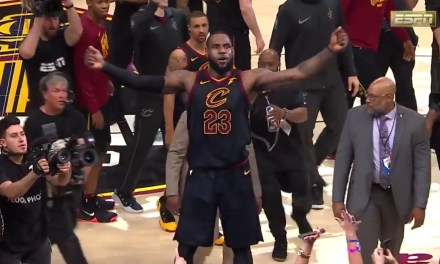 LeBron James Hit an Incredible Buzzer Beater to Give the Cavs a 3-0 Series Lead