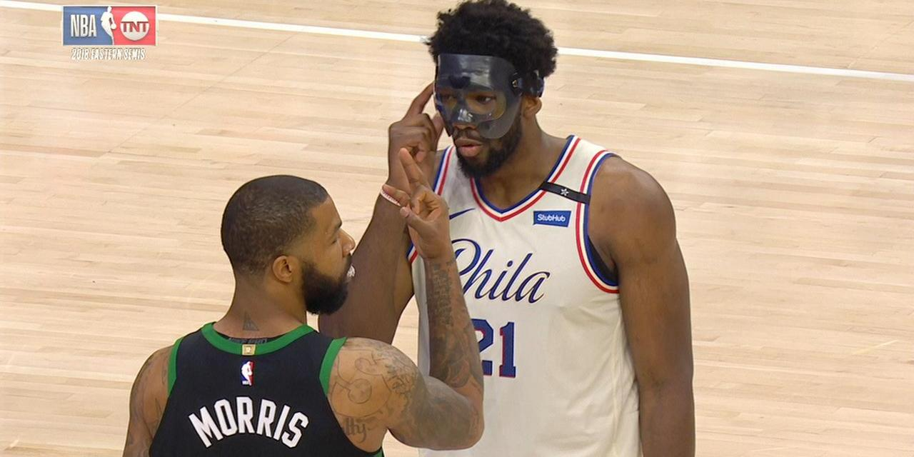 Marcus Morris Reminded a Trash Talking Joel Embiid the Celtics Have a 3-0 Series Lead