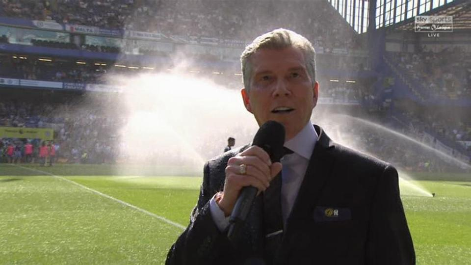 Michael Buffer and his Million Dollar Voice Got Hit by Sprinklers