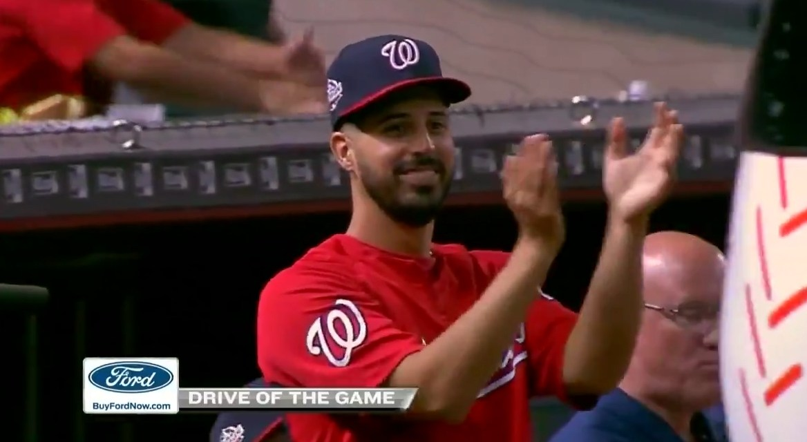 Nationals Closer Received a Standing Ovation From Teammates After Riding the D-Backs Bullpen Cart