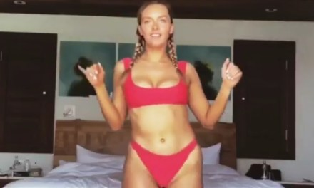 Camille Kostek's Private Dance for Gronk