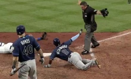 Tampa Bay Rays Shortstop Steals a Run with a Nifty Slide