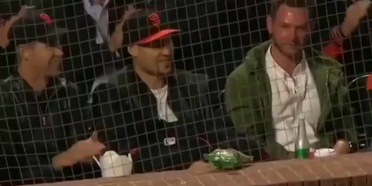 Klay Thompson Spotted at Giants Game