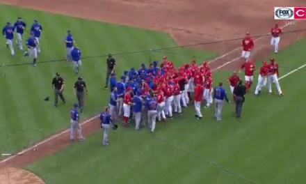 Javy Baez Cries After Strikeout, Causes Benches to Clear