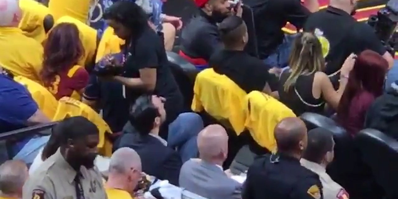 Odell Beckham Jr. Spotted on the Phone at the Cavs Game