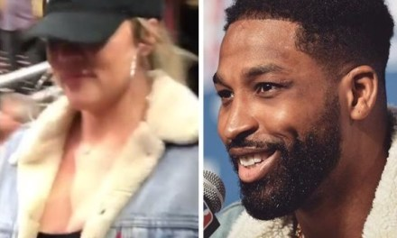 Khloe Karsdashian and Tristan Thompson Match Outfits For Game 4