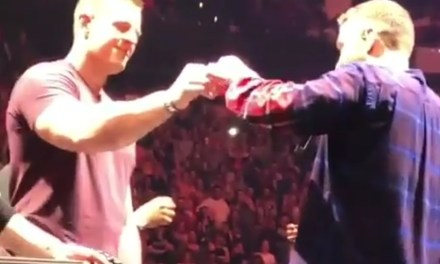 J.J. Watt Took a Shot on Stage with Justin Timberlake