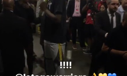 Kevin Durant and Girlfriend Spotted at Game 7