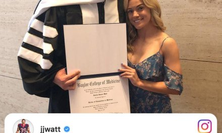 J.J. Watt Receives Honorary Degree from Baylor College of Medicine