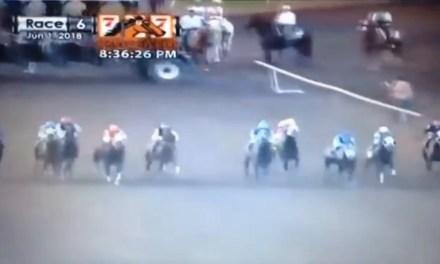 A Horse Named 'Bofa Deez Nutz' Wins at Oklahoma City Race Park