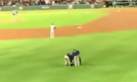 Red Sox Fan Gets Taken Out by Security After Running on the Field