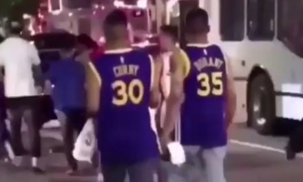 Cavs Fans Jump Warriors Fans After Game 4 in Cleveland