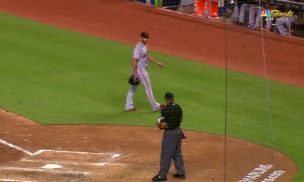 Madison Bumgarner Ejected After Being Taken Out of the Game