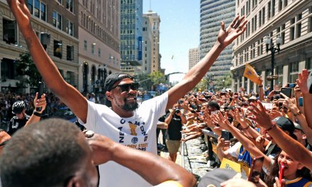 Kevin Durant's Girlfriend Cassandra Anderson Spotted at Championship Parade
