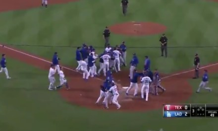 The Benches Cleared in Los Angeles after Matt Kemp Ran Over the Rangers Catcher