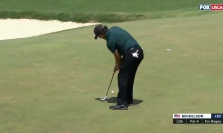 Phil Mickelson Blew U.S. Open Announcer's Mind By Hitting a Ball That Was Still Moving