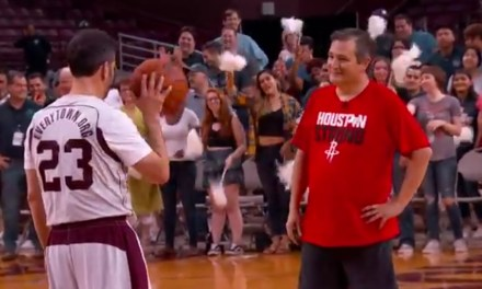Ted Cruz Beat Jimmy Kimmel in One on One Basketball Game for Charity