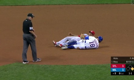 Benches Clear in Milwaukee after a Soft Reaction to a Slide at Second Base