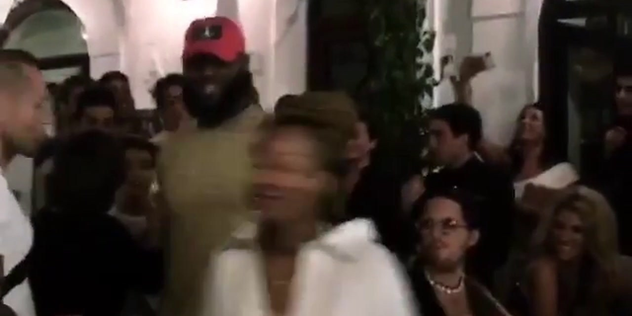 LeBron and Savannah Enjoying a Night out In Positano