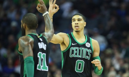 Jayson Tatum and Kyrie Irving Going at Kids at Pro Camps Session