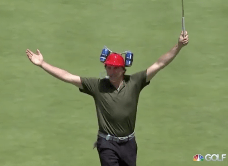 best loved 93875 d5d3c T.J. Oshie Sunk a Long Putt While Drinking from a Beer ...